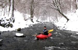 Rzeka Kamienica i jej zimowe uroki