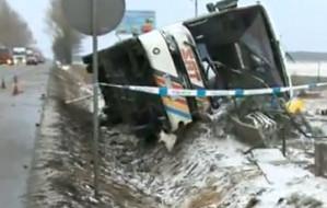 Dwie ofiary wypadku autokaru z kibicami