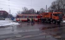 Wielkie korki po wykolejeniu się tramwaju...