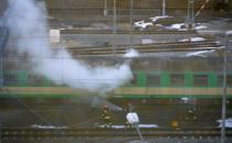Pożar wagonów w Gdyni
