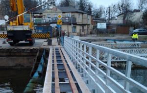 Bałagan w czasie remontu mostu w Sobieszewie