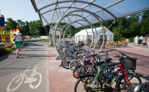 Kolizje rowerzystów w pasie nadmorskim....