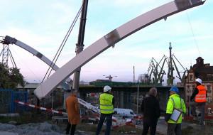 Łuki wiaduktu na Nowej Wałowej zamontowane
