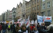 Kilka tysięcy związkowców na ulicach Gdańska
