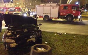 Zderzenie samochodów przy Galerii Bałtyckiej