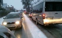 Trójmiasto zmaga się z pierwszym śniegiem....