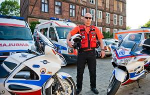 W miasto wyjechało motocyklowe pogotowie ratunkowe