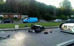 Trzy poważne wypadki motocyklistów