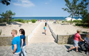 Nowe wejście na plażę w Sopocie