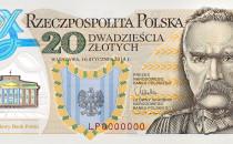 Pierwszy polski banknot z polimeru. 20 zł...