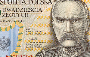 Pierwszy polski banknot z polimeru. 20 zł z Piłsudskim