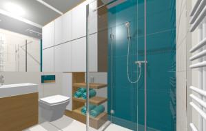 Szklana ściana między sypialnią a łazienką