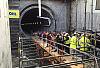 Tłumy przeszły tunelem pod Martwą Wisłą