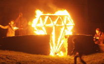 Zabawy ogniem w blokowisku na Zaspie