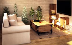 Mieszkanie w stylu eko - aranżacje wnętrz