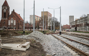 Budowa trasy tramwajowej na Morenę za półmetkiem