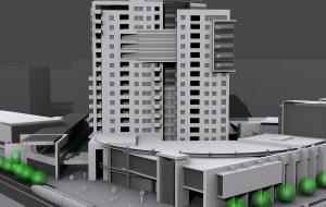 Trwa spór prawny o wieżowiec na Żabiance. Deweloper stracił zapał