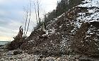 Kapryśna zima niszczy redłowski klif