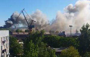 Ugaszono pożar w Stoczni Marynarki Wojennej w Gdyni