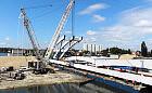 120-metrowy most kolejowy na razie wzdłuż Martwej Wisły