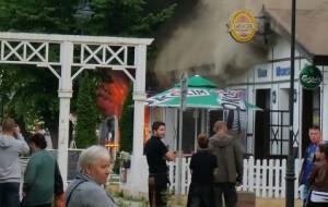 Pożar baru z kebabem w Brzeźnie