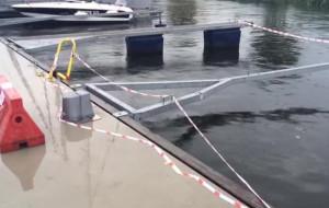 Kto zniszczył przystanek tramwaju wodnego?