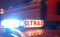 Nocny pożar samochodu w Gdańsku