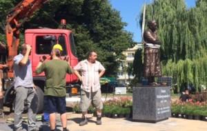 Pomnik Anny Walentynowicz gotowy. Czeka na odsłonięcie