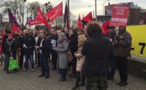 Pikieta w obronie pracowników Polskiego Busa
