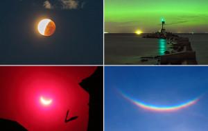 Warto było patrzeć w niebo: zorze, zaćmienia i meteor
