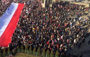 Demonstrowali poparcie dla Lecha Wałęsy