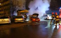Spłonął samochód na Przymorzu