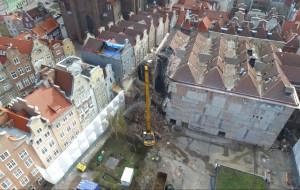Rozbiórka dawnego kina Neptun w Gdańsku