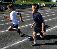 Dzieci rozbiegają Gdańsk przed maratonem