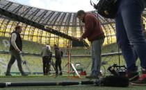 Niemiecka telewizja na Stadionie Energa...