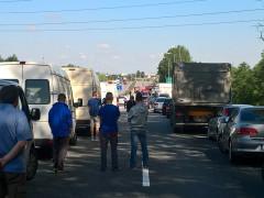 Kolejny wypadek na węźle Karczemki w stronę Gdyni