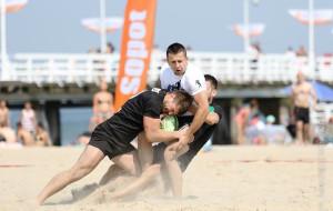 Turniej rugby na plaży w Sopocie