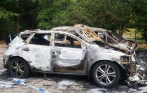 Płonęły auta na parkingu w Oliwie