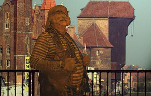 Pomnik pirata stanie nad Motławą albo na Wyspie Spichrzów?