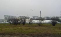 Rozbiórka sportowej hali namiotowej na...