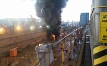 Pożar w doku Stoczni Remontowa