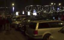 Iluminacja parku zakorkowała w weekend Oliwę