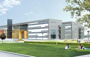 Budynek Wydziału Chemii UG już z kamieniem węgielnym