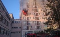 Pożar mieszkania w wieżowcu na Witominie