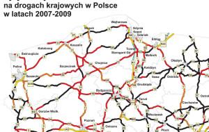 Na polskich drogach wciąż jest niebezpiecznie