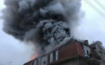 Pożar kamienicy przy ul. Polanki w Oliwie