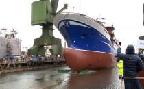 Trawler Voyager zjechał z pochylni