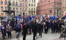 Manifestacja jedności z Unią Europejską