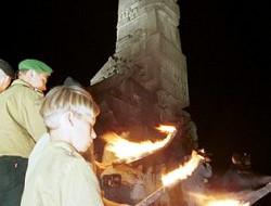 Pochodnie na Westerplatte