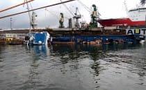 Wypadek w stoczni Nauta. Dok zatonął wraz...